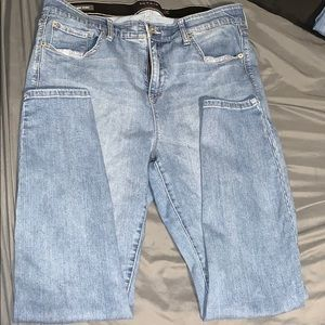 Premium stretch sky high skinny jean medium wash